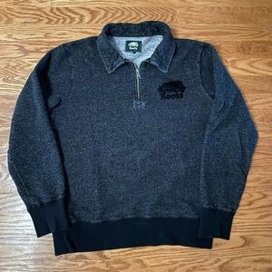 Black pepper Roots quarter zip sweater Size - S